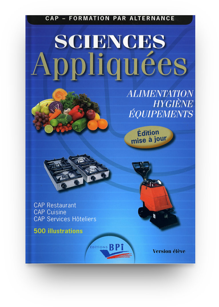 Cap Sciences Appliquees Alimentation Hygiene Equipements Jf