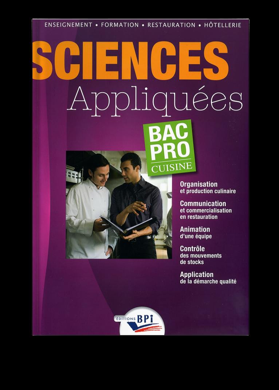 Sciences appliqu es bac pro cuisine b rougier c - Fiche bilan de competences bac pro cuisine ...